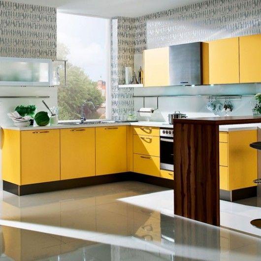 Mango Yellow Kitchen Design Kitchens Yellow Kitchen Cabinets