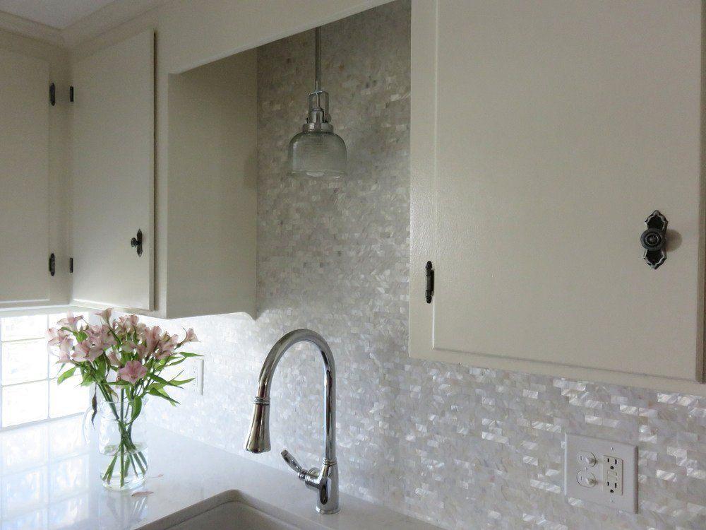 Art3d 6-Pack Mother of Pearl Shell Tile for Kitchen Backsplashes ...