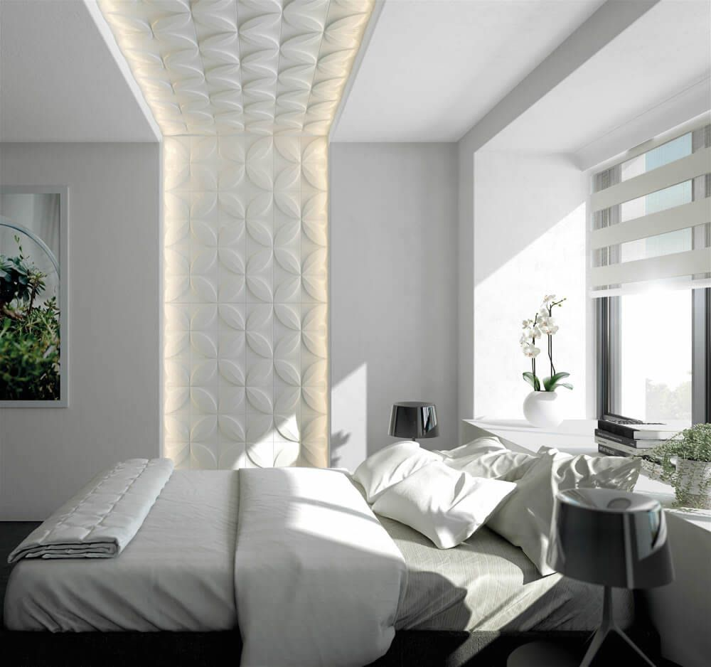 Nmc Wandpaneele Im Modernen Stil Mit Floralen 3d Effekten Gestalten Schone Akzente Im Schlafzimmer 3d Wandplatten Wandpaneele Innenwande