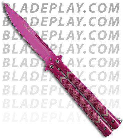 Hieroglyph Pink Butterfly Knife Flipper 3 75 Quot Pink Plain
