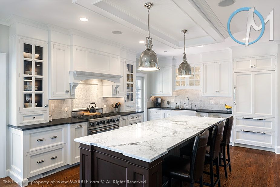 Like The Contrasting Countertops And The Light Fixtures Kitchen