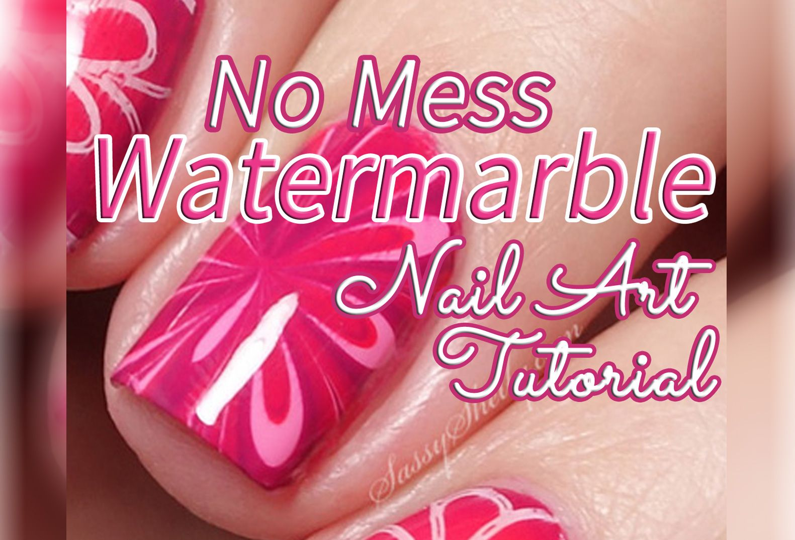 Double Nail Art Tutorial! Easy to follow step-by-step videos on how to do both a No Mess Watermarble and a Radial Gradient nail design