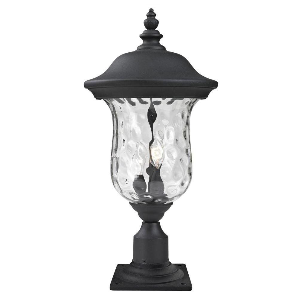 Filament Design Lawrence 2 Light Bronze Incandescent Outdoor Post Light Outdoor Post Lights Outdoor Lamp Posts Lantern Post
