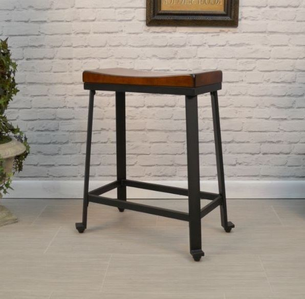 Modern High Kitchen Chairs: Counter Height Stool Wood Metal Industrial Kitchen High