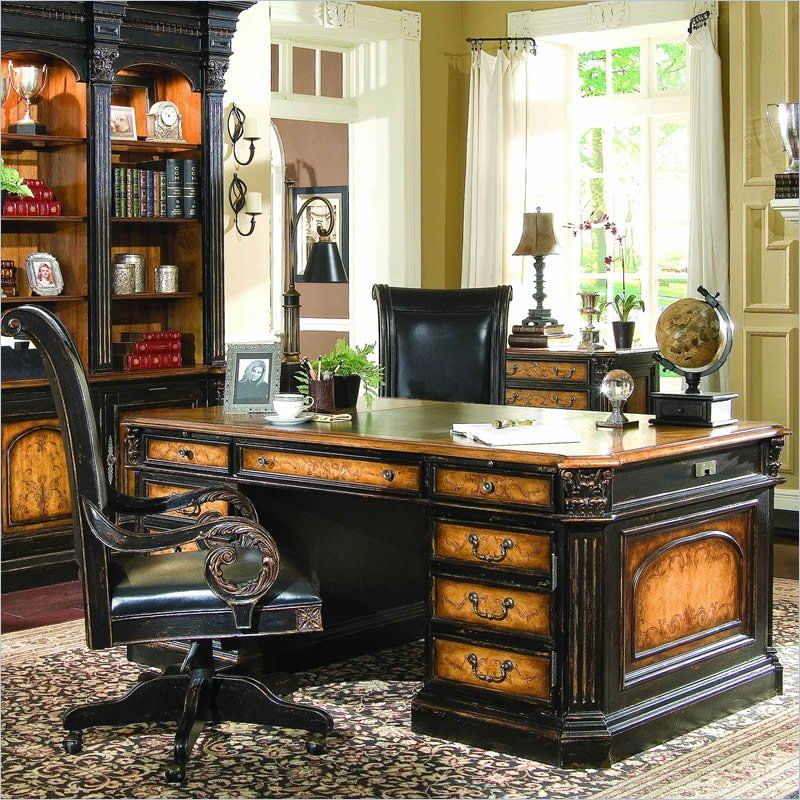 Hooker Furniture North Hampton Executive Desk With Leather Top