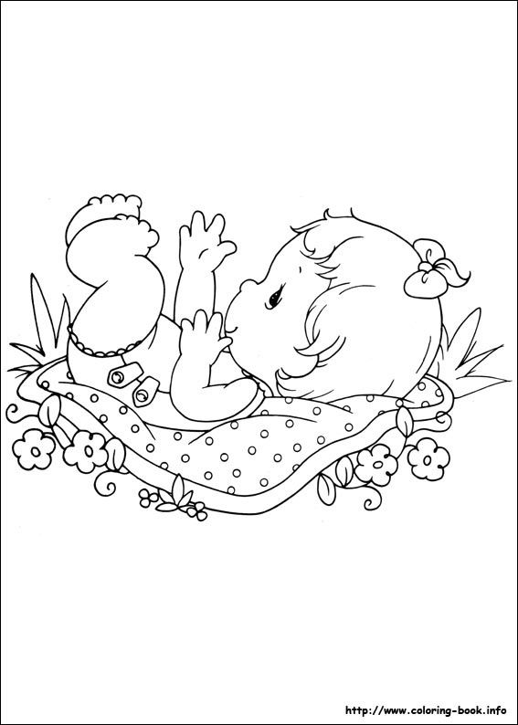 Precious Moments Baby Girl Coloring Page With Images Precious