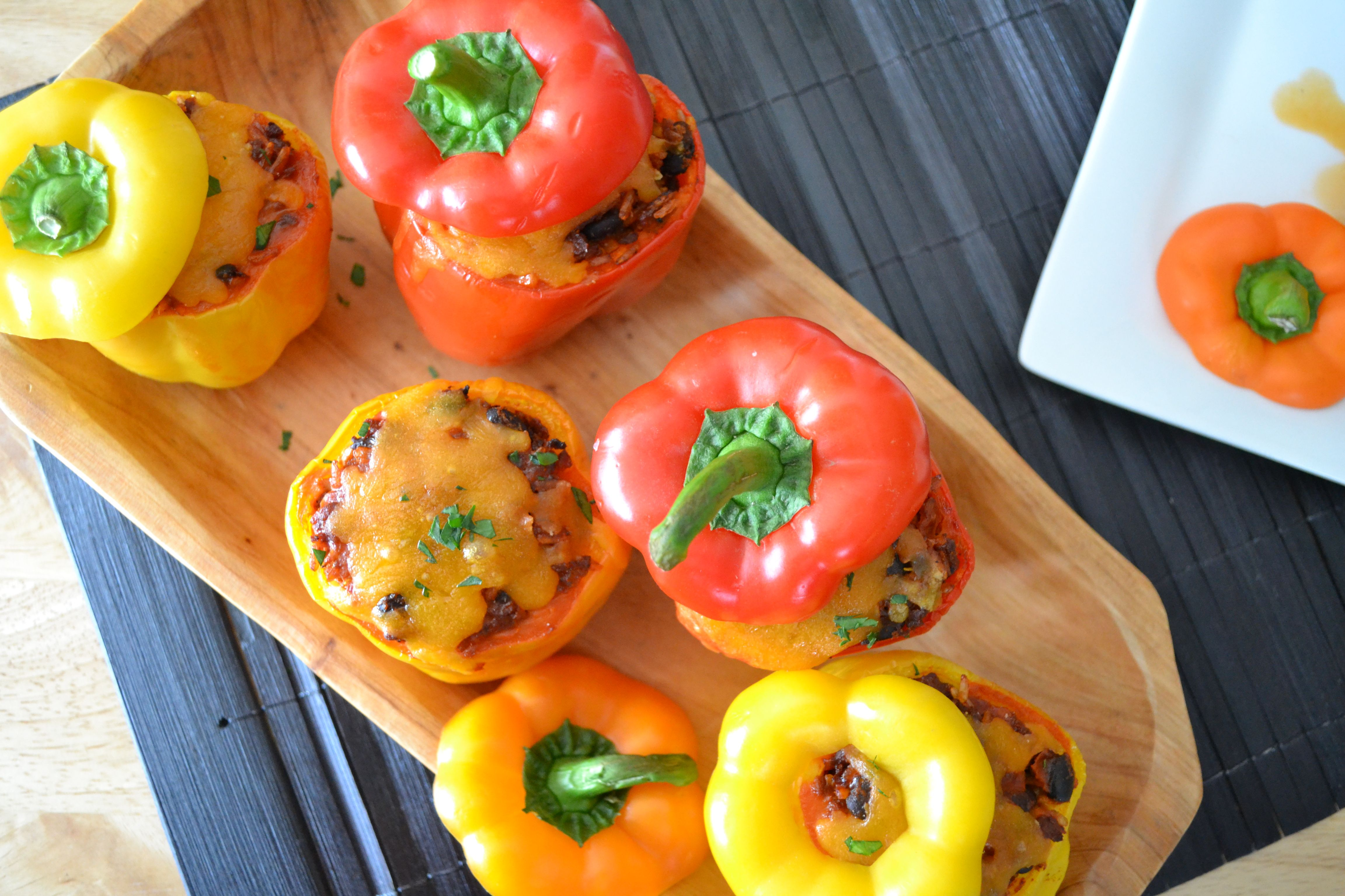 Vegetarian Stuffed Peppers (also gluten-free)