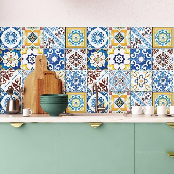 Ps00131 obidos adh sive d corative carreaux pour salle - Stickers pour carrelage mural cuisine ...