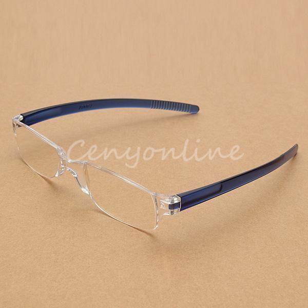 9f6696adcbe0 Elegant Lightweight Transparent Rimless Reading Glasses New  +1/+1.5/+2/+2.5/+3