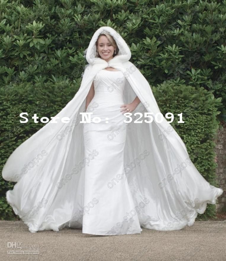 winter wedding dresses | ... Wedding Cloaks Faux Fur Perfect For Winter Wedding Bridal Long Big