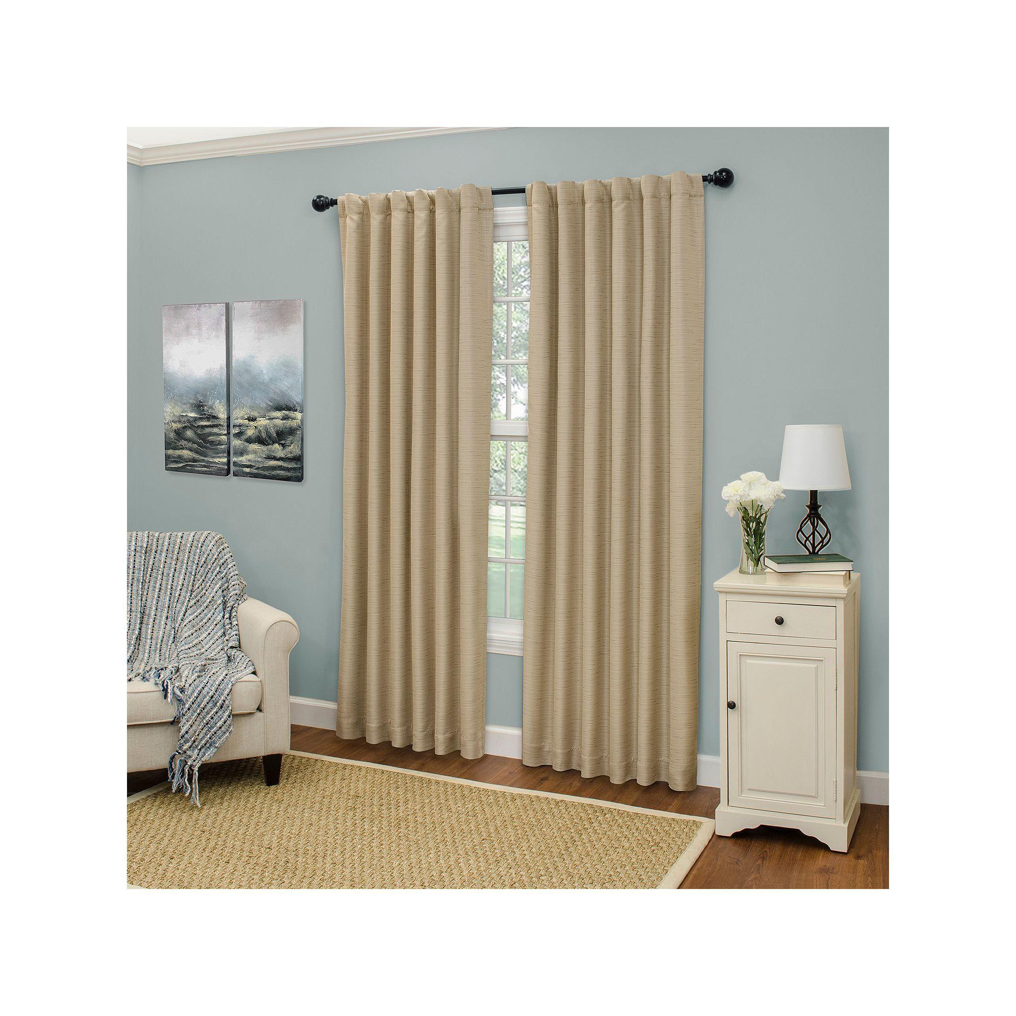 Eclipse Cromwell Thermaweave Window Curtain, Beig/Green (Beig/Khaki)