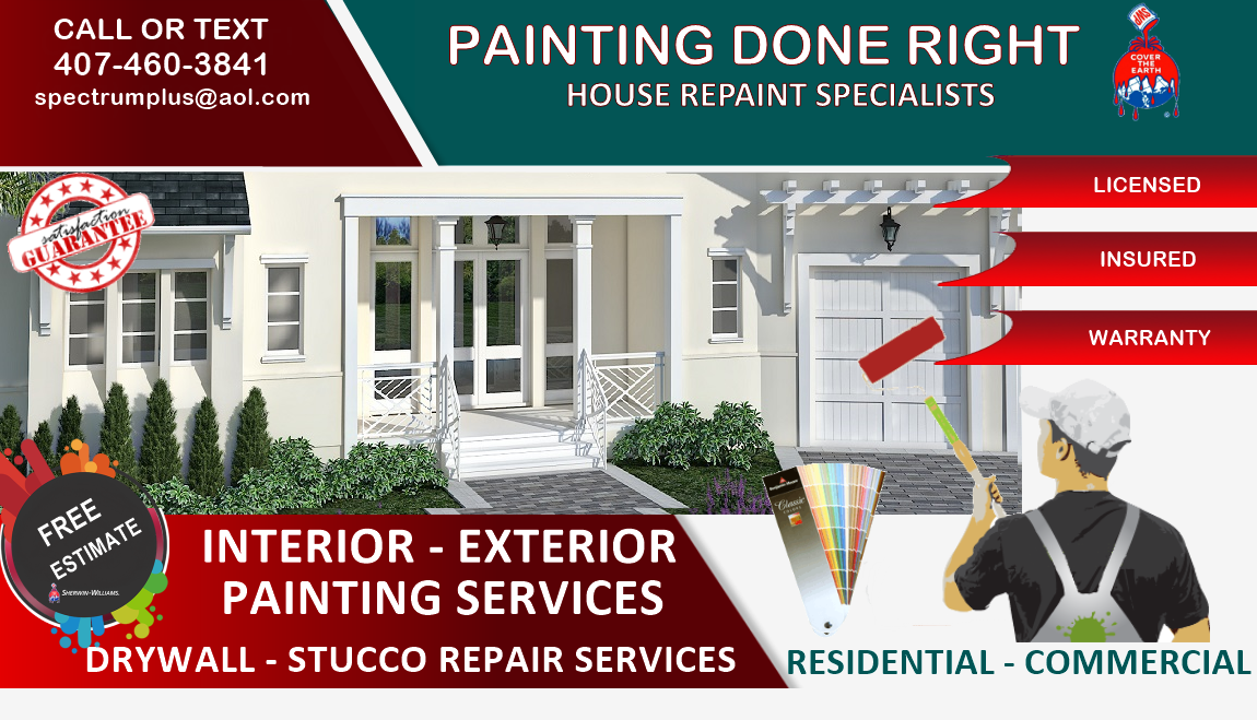 Spectrumplus LLC house painters is locally owned and