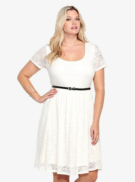 Belted Lace Skater Dress Torrid White Lace Skater Dress Lace Skater Dress Torrid Fashion