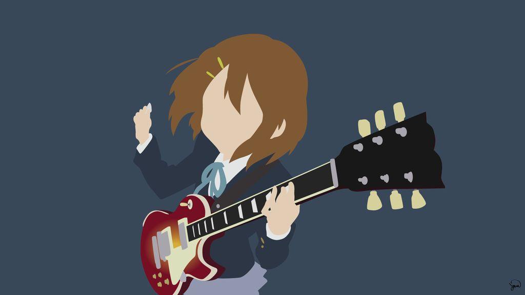 Yui Hirasawa K On Minimalist Wallpaper By Greenmapple17 Minimalist Wallpaper Wallpaper Anime Version