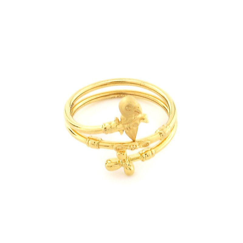 GRT | Collections | Gold | Rings | Open Spiral Finger Ring | I ...
