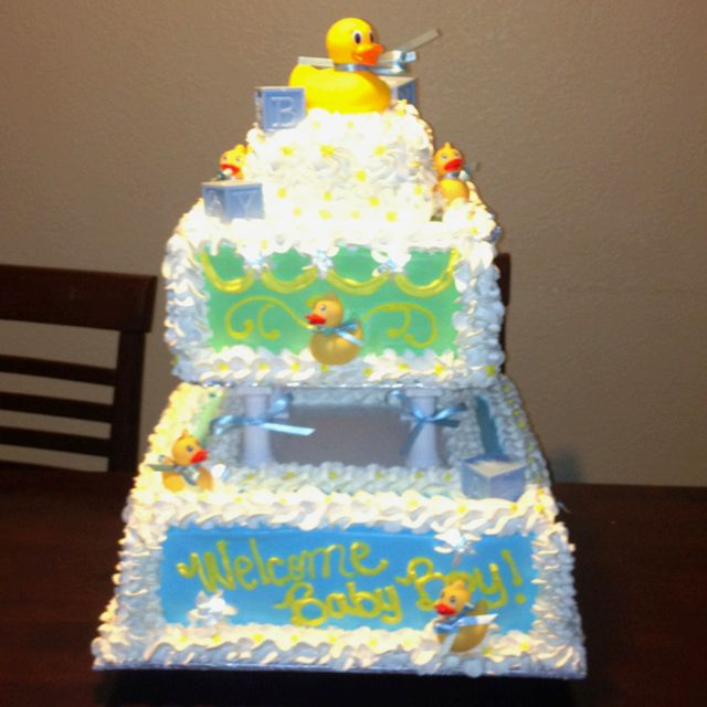 Baby shower cake I made whipped icing Things made by Davina me