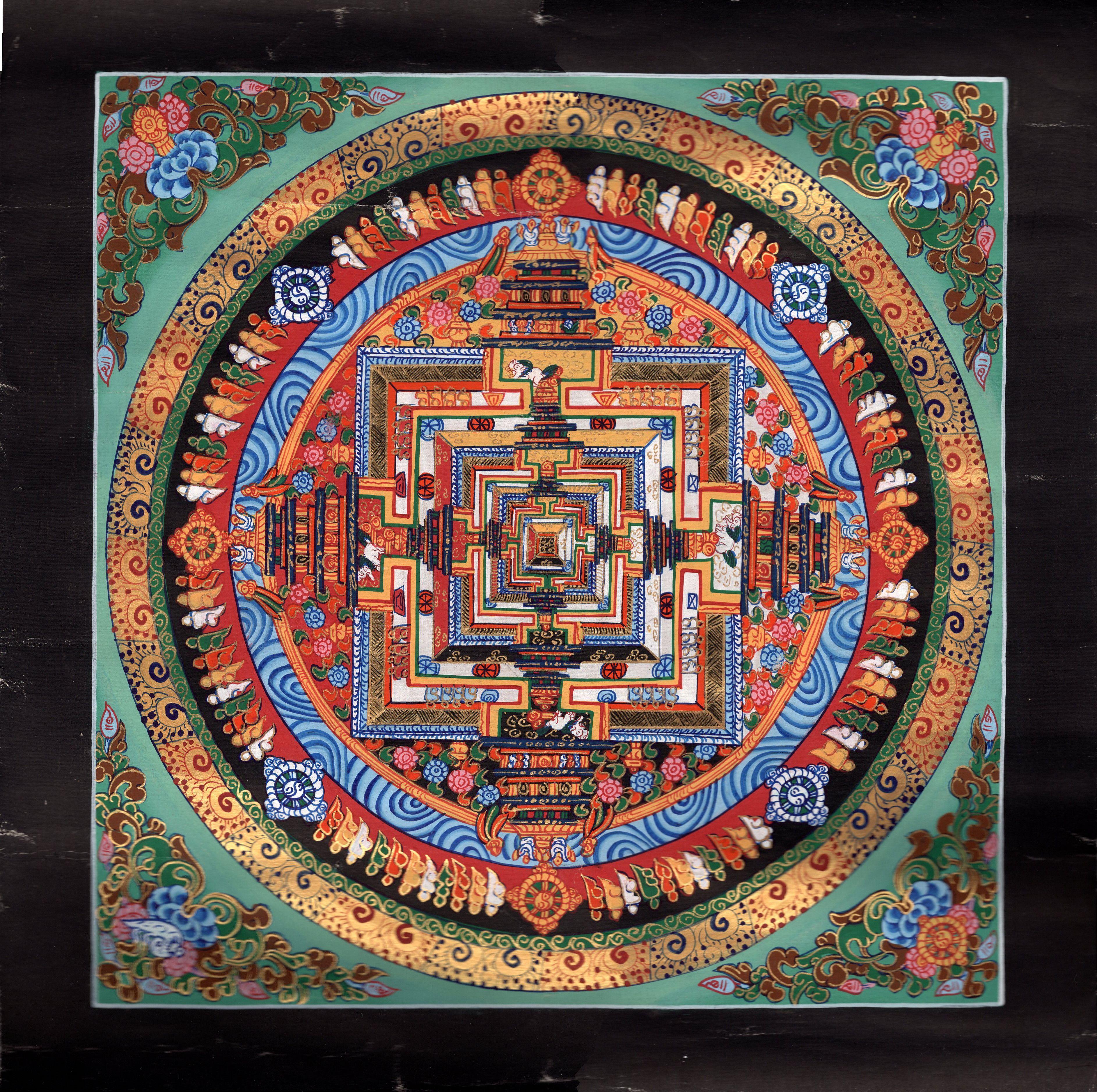 Kalachakra Mandala Painting Handmade Tibetan Thangka