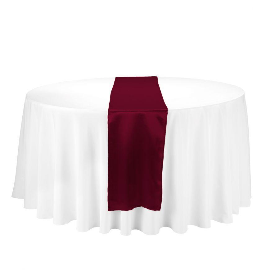 Genial Satin Table Runner Burgundy