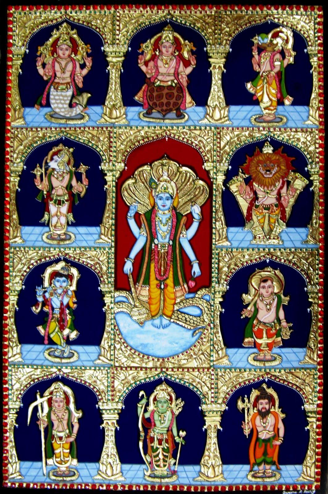 Vedas Resources: Dasavatharam - the 10 incarnations of Lord Vishnu
