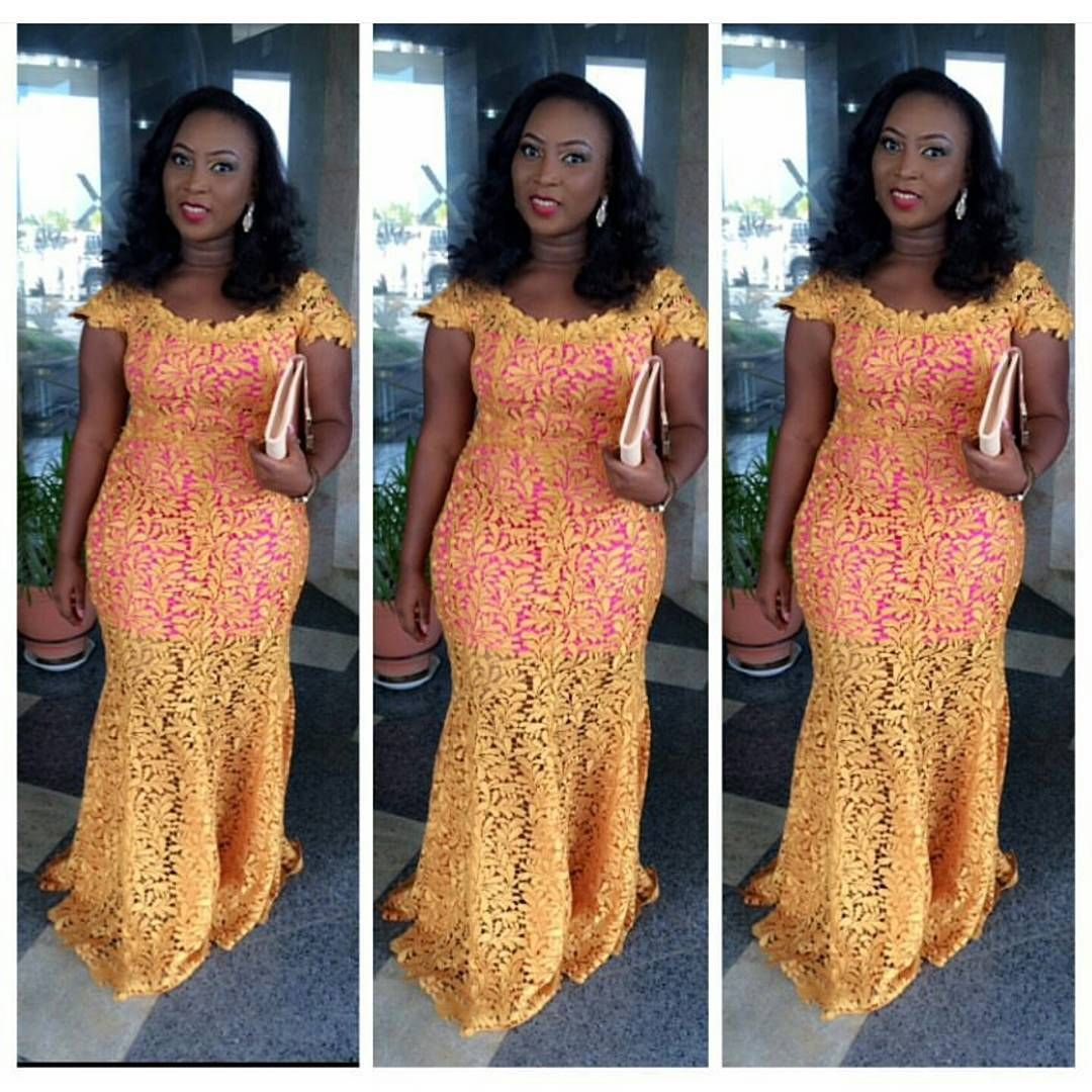 Top ten beautiful french lace aso ebi styles for ladies nigeria