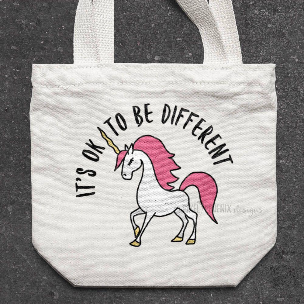 Unicorn cut file, OK to be different, Unicorn SVG file, unicorn ...