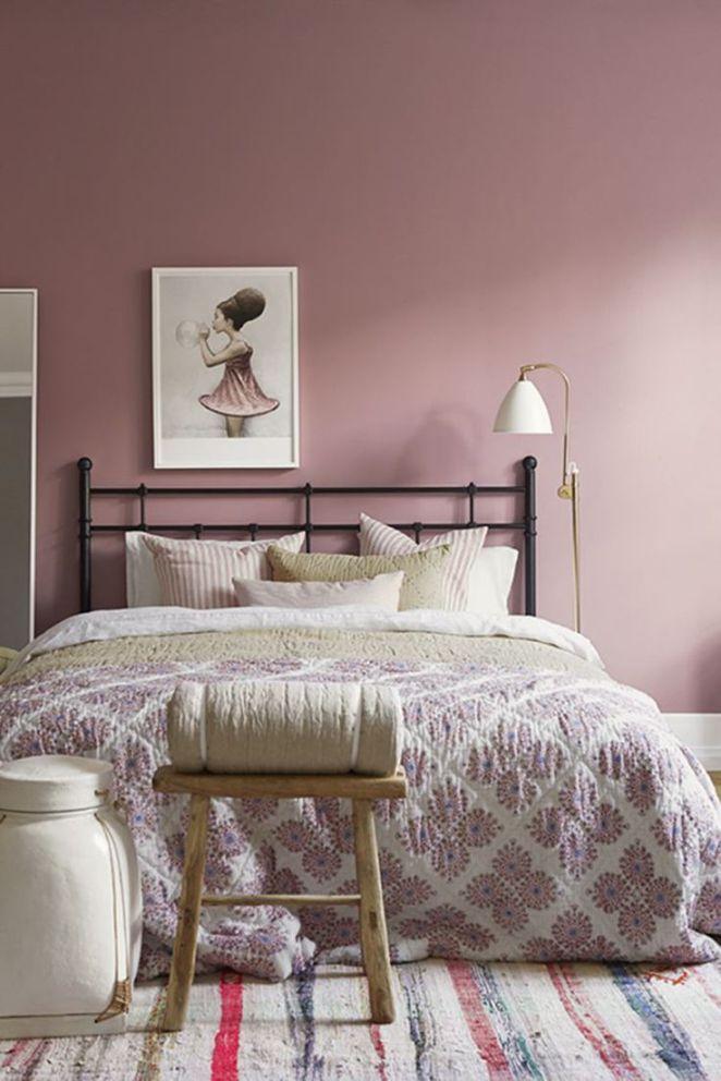 peinture chambre rose poudre