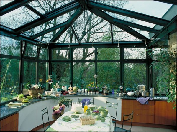 cuisine dans veranda cuisine pinterest conservatories. Black Bedroom Furniture Sets. Home Design Ideas