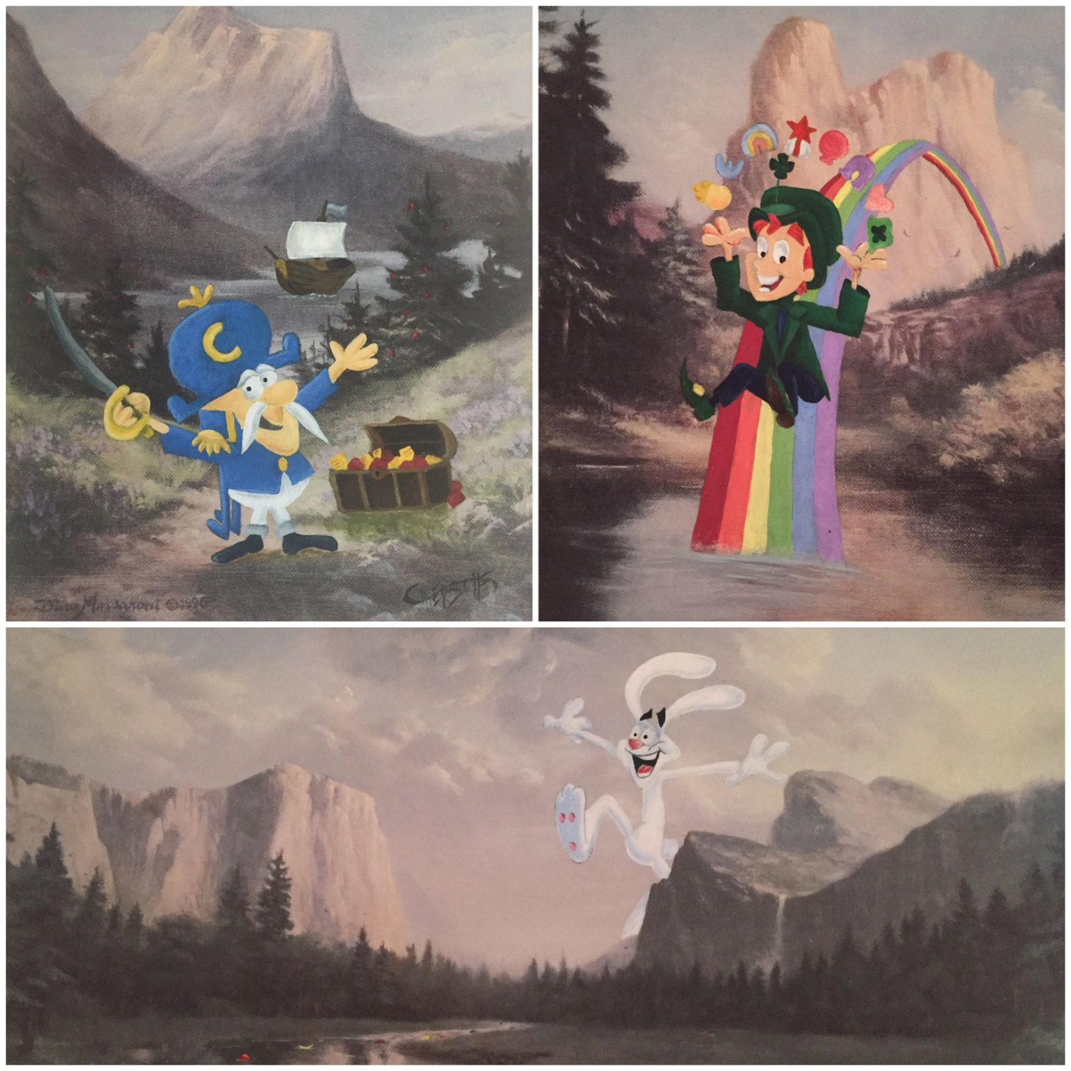 Breakfast Cereal Mascot Characters Parody Paintings