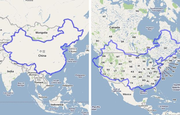 19 maps that will help you put the united states in perspective china x the united states 19 maps that will help you put the united states in perspective gumiabroncs Choice Image
