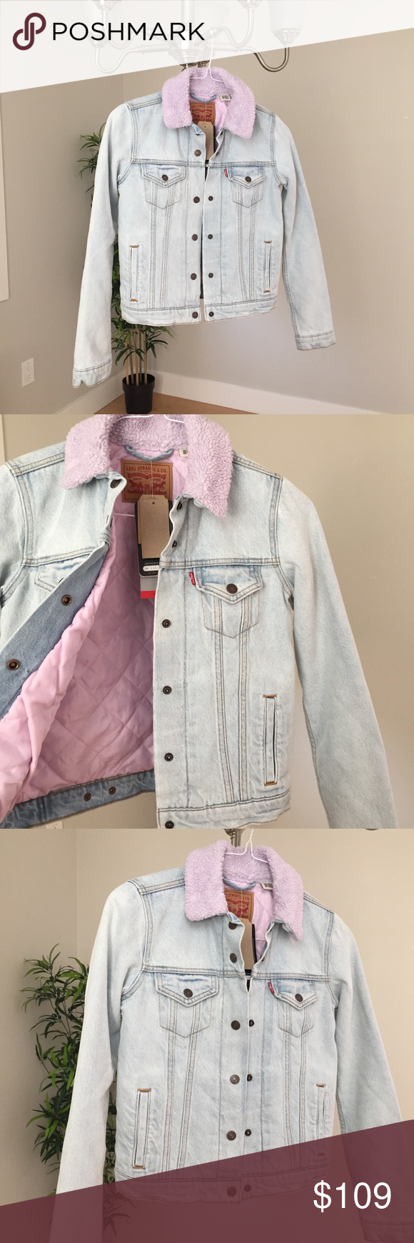 Rare Nwt Levi S Jean Jacket Rare New With Tags Levi S Performance Insulated Jean Jacket Lavender Purple Lining W Insulated Jeans Jean Jacket Light Wash Denim [ 1740 x 580 Pixel ]