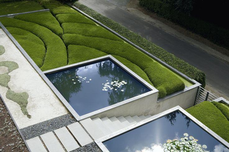 moderne gartenarchitektur - minimalistisch, formal, puristisch,