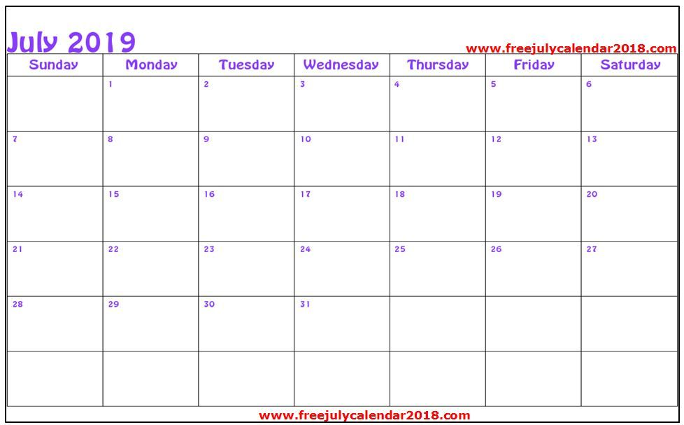 July 2019 Calendar Word Document With Images Calendar Word
