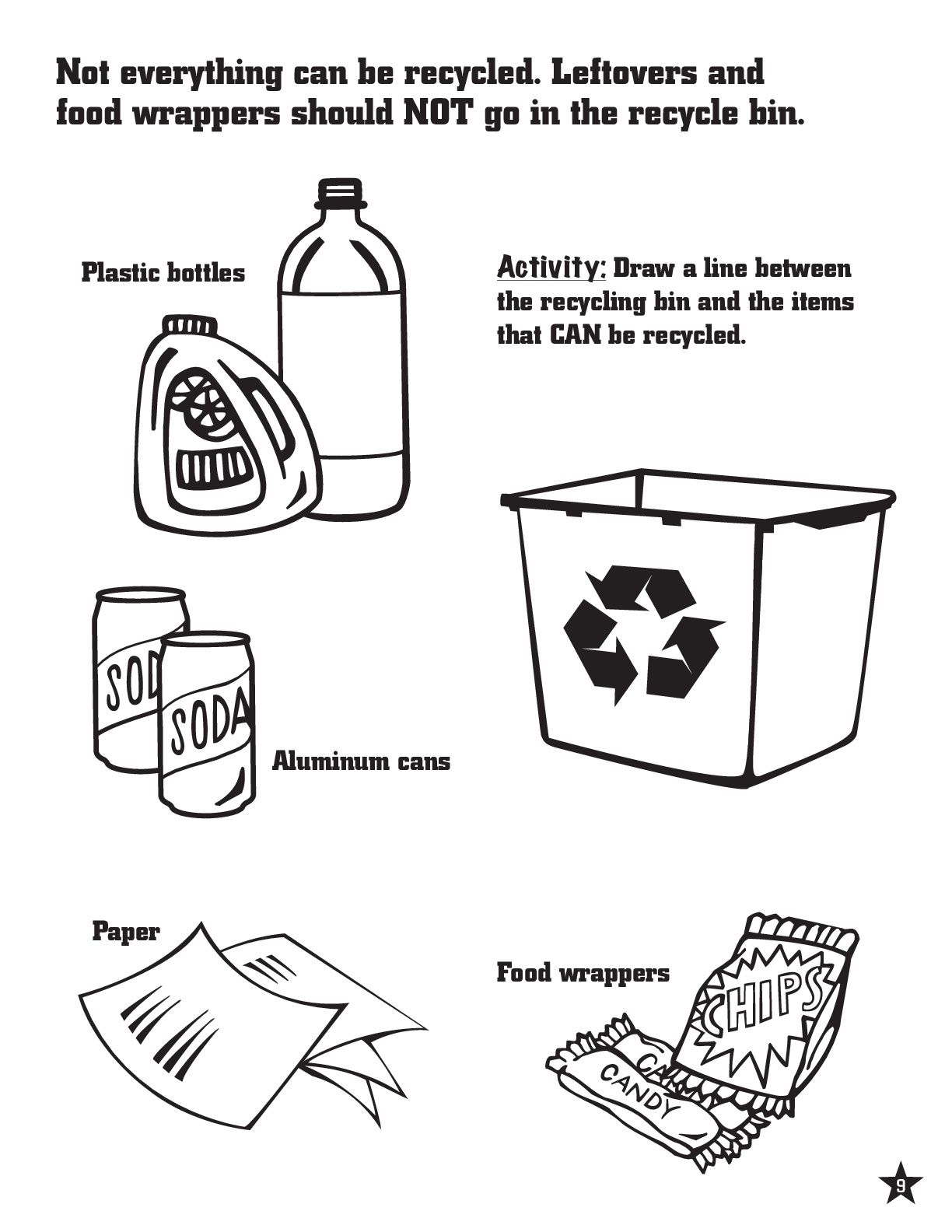 Recycling Coloring Page Recycling Reducereuserecycle