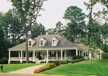 Wraparound Porches Have Curb Appeal Covered Acadian Style Homes Ranch Style Homes Ranch House Plans