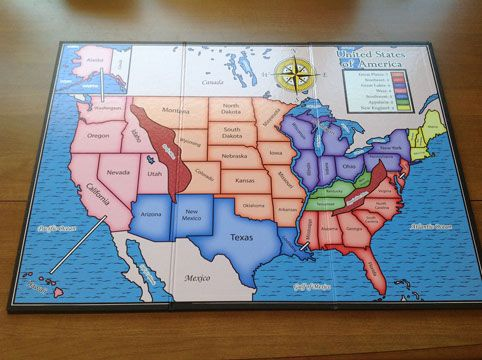 Custom Board Game - US Map | Homeschooling | Board games ...