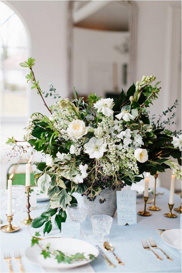 Elegant Winter Wedding Inspiration Blue Wedding