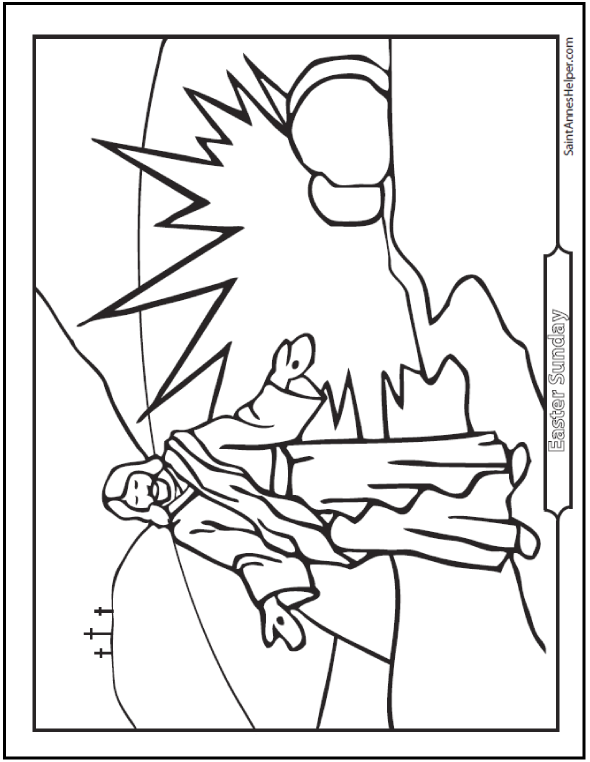 Jesus Resurrection Coloring Pages Easter And First Glorious Mystery Of The Rosary