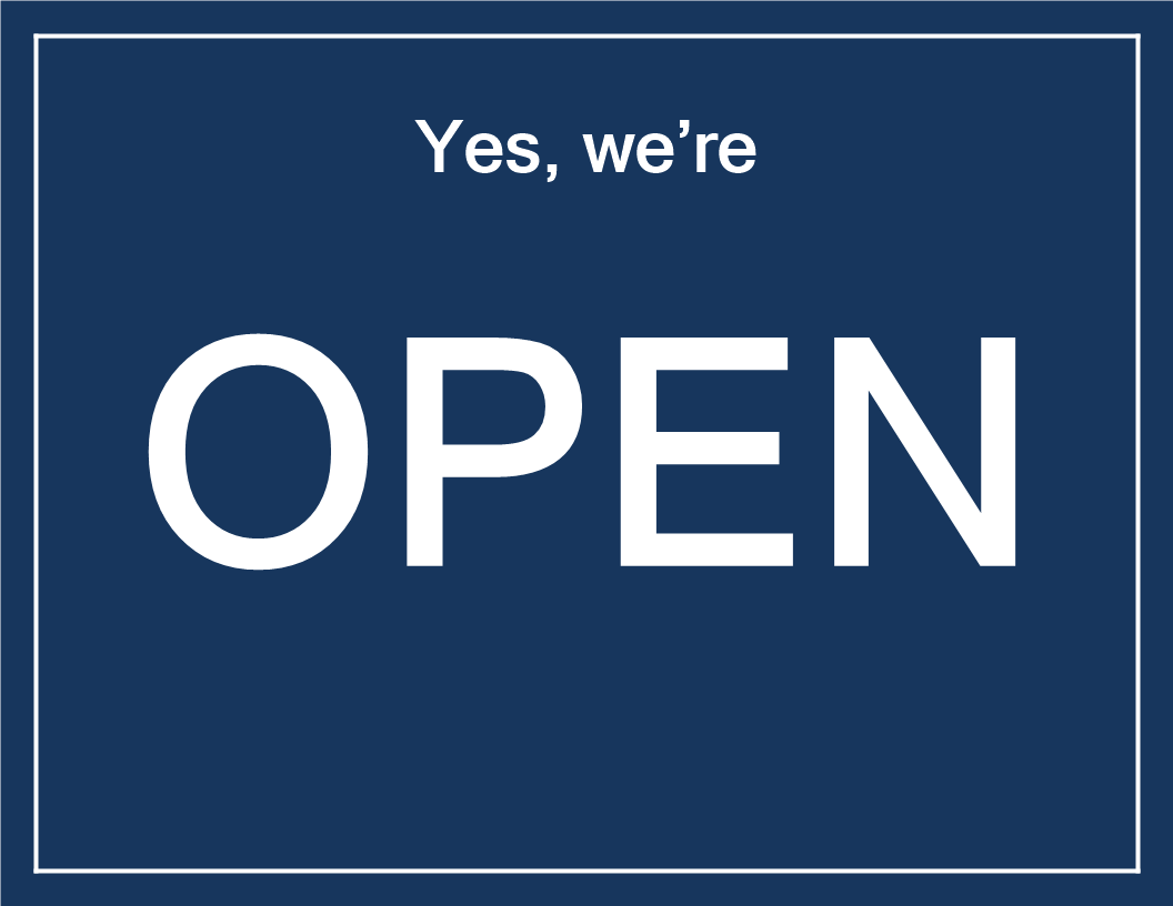 Yes We Re Open Sign Template Download This Printable Open Sign Template And Position It On The Entrance Door Of Y Open Signs Sign Templates We Are Open Sign