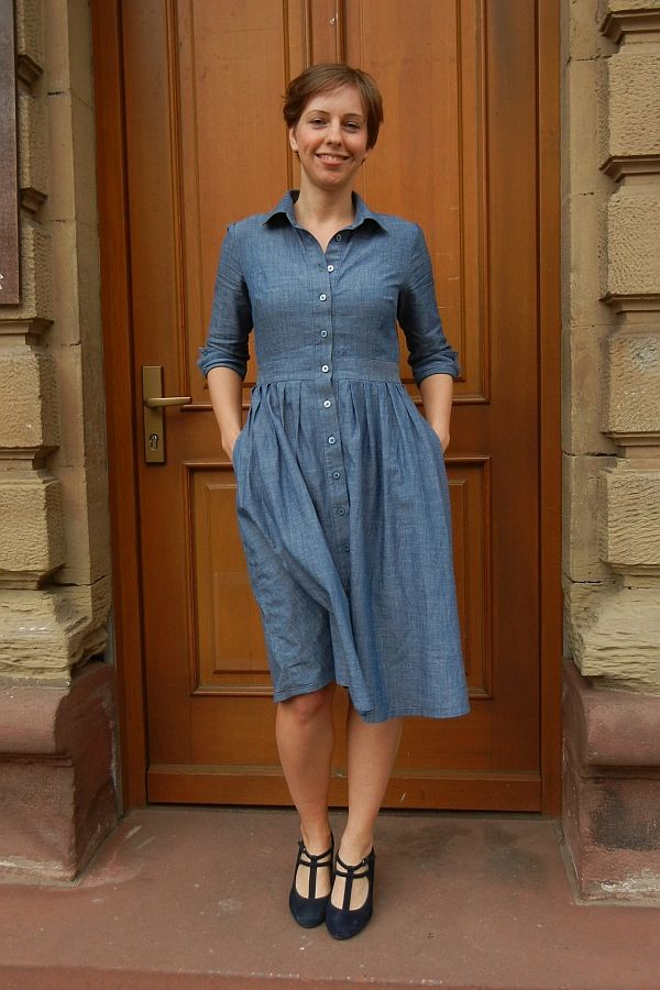 McCalls 6696 in Denim (minimale extravaganz.) | Shirtdress ...