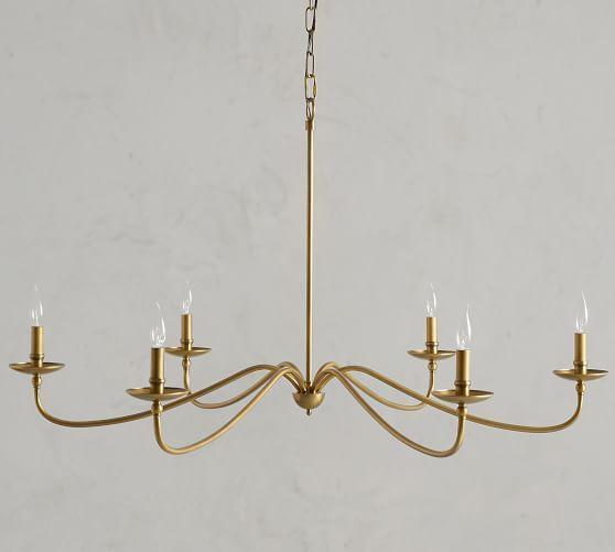 Pb Classic 3 Light Metal Bell Pendant Hood Amp Brass Cord