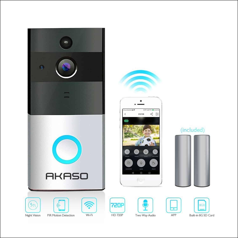 Akaso Ring Video Doorbell Pro720p Hd Ring Video Doorbell Video Doorbell Doorbell