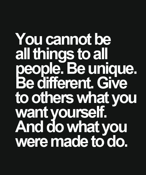 Be Unique Be Different Inspirational Quote Full Dose Words Quotes Inspirational Words Inspirational Quotes
