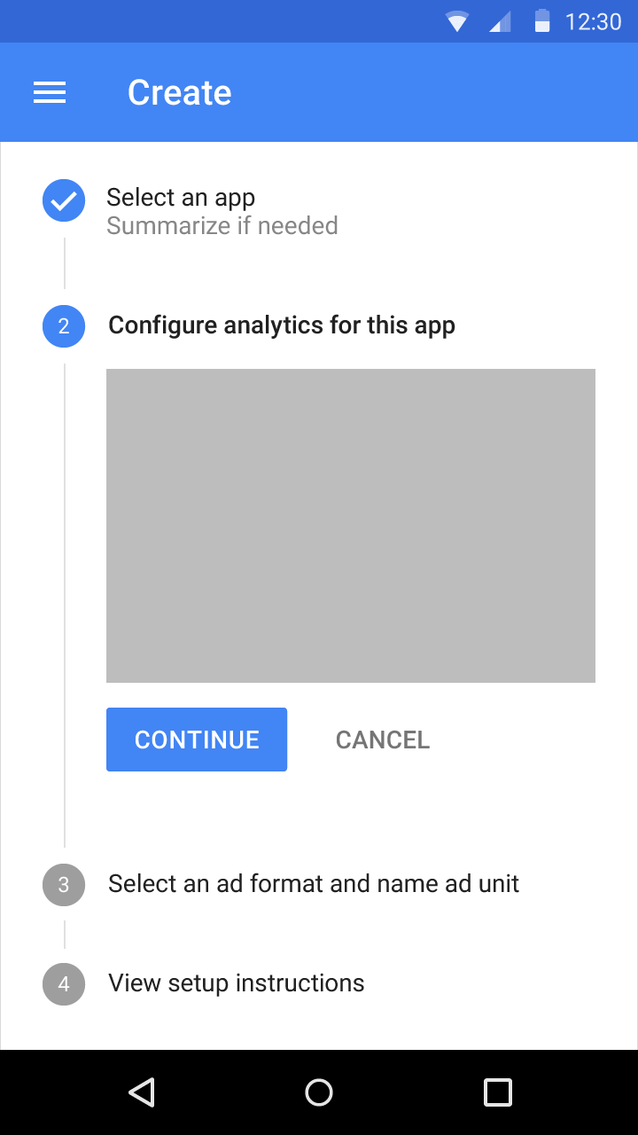 Steppers - Components - Google design guidelines