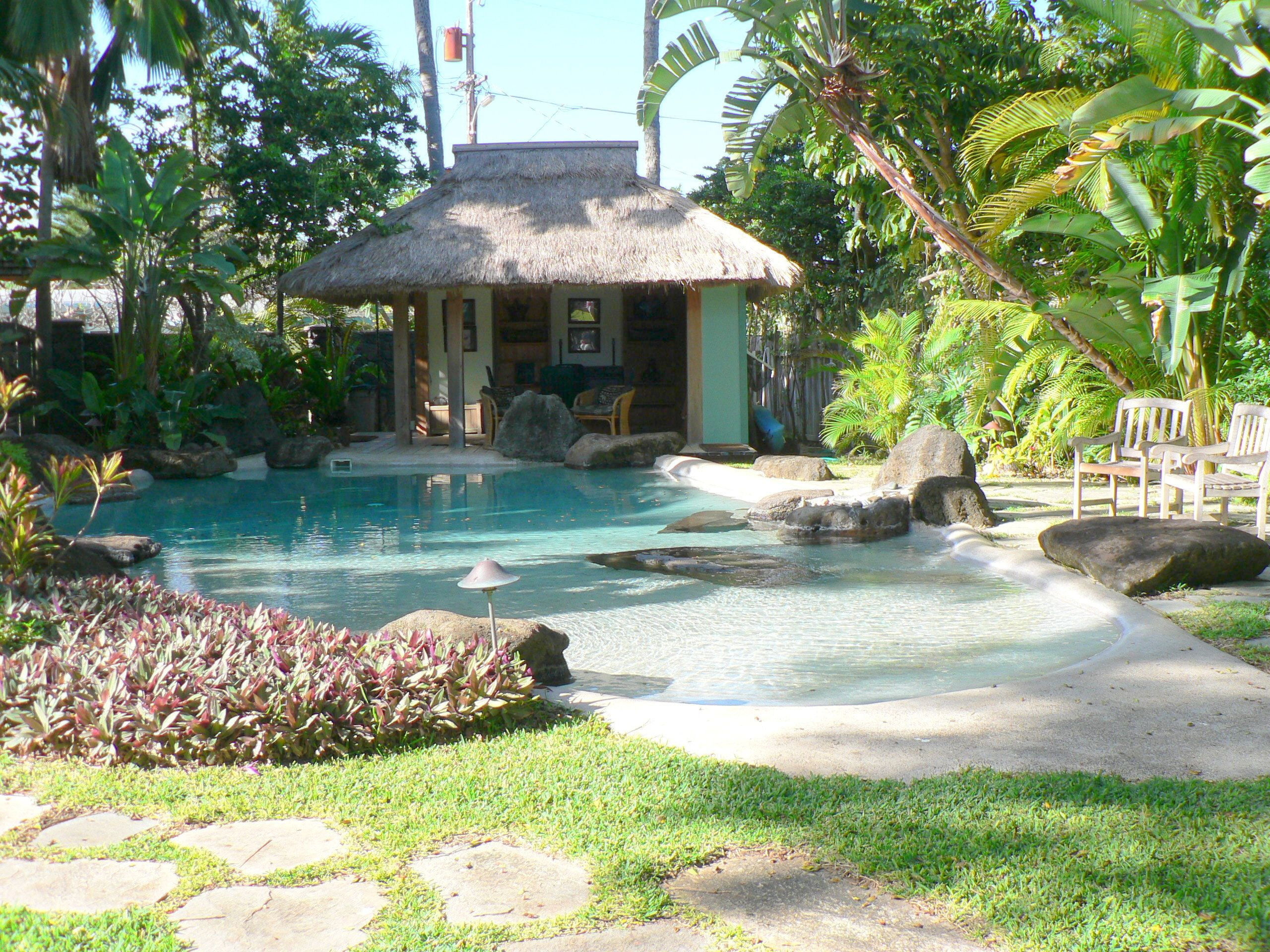 beach entry swimming pool   Click for Full Size)   Backyard ...
