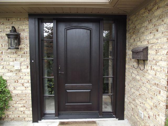 Black Brown Front Door Painted Front Doors Exterior Front Doors Brown Front Doors