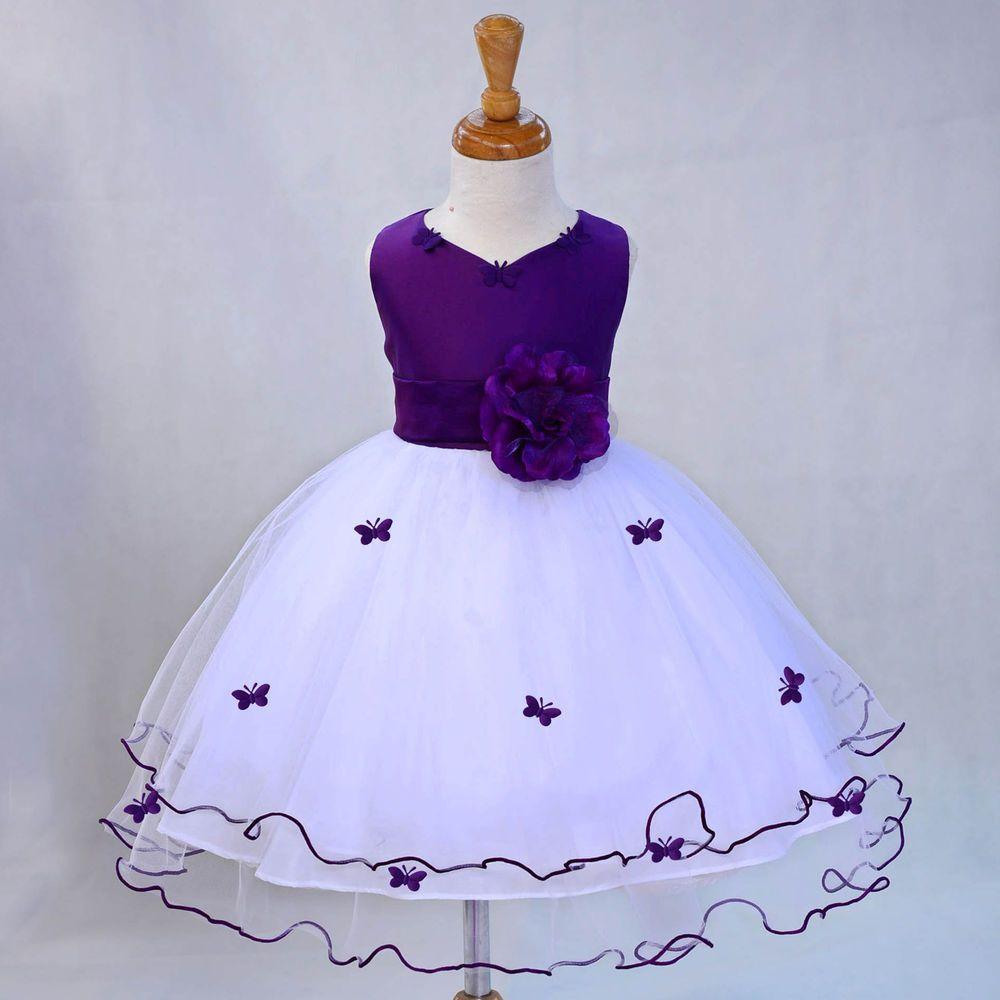 Purple Flower Girl Dresses 5T
