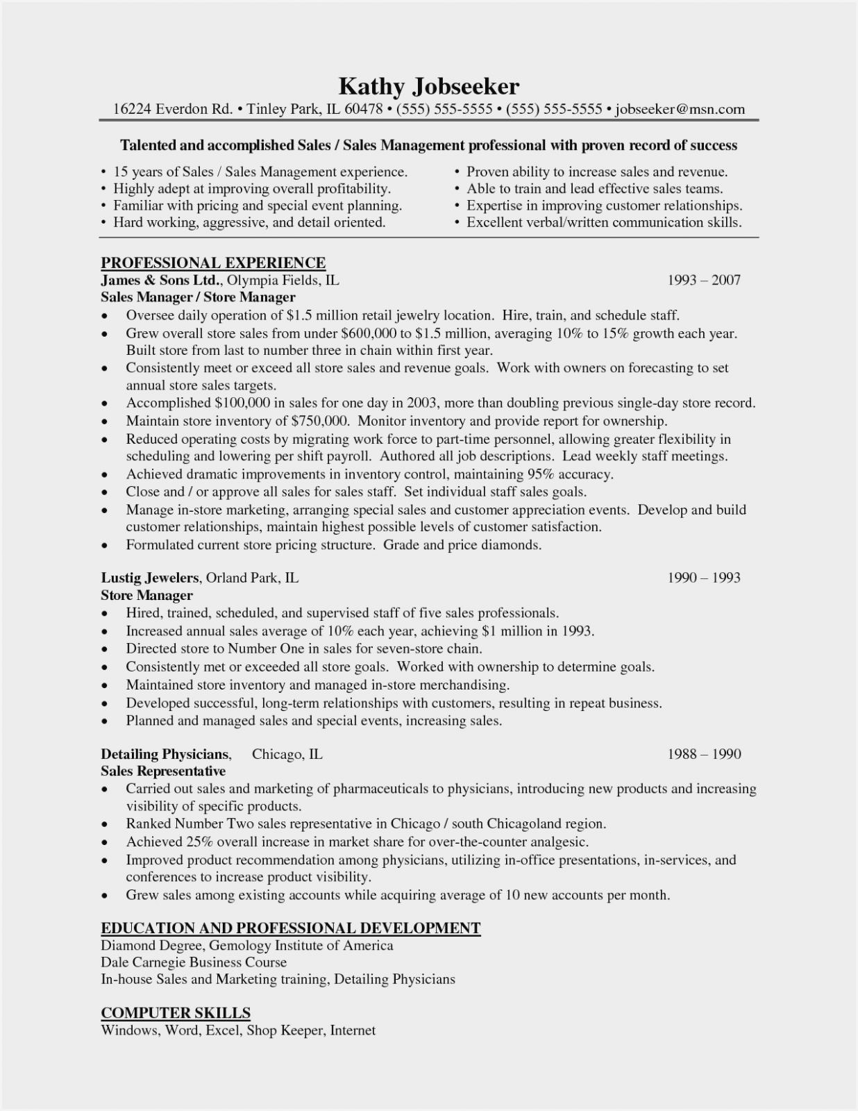 14 Resume Format In Word For Store Keeper