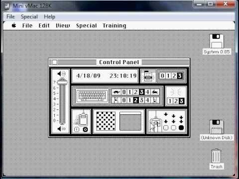 First Ever Apple Mac Os Version System 0 8 5 1983 Mac Os