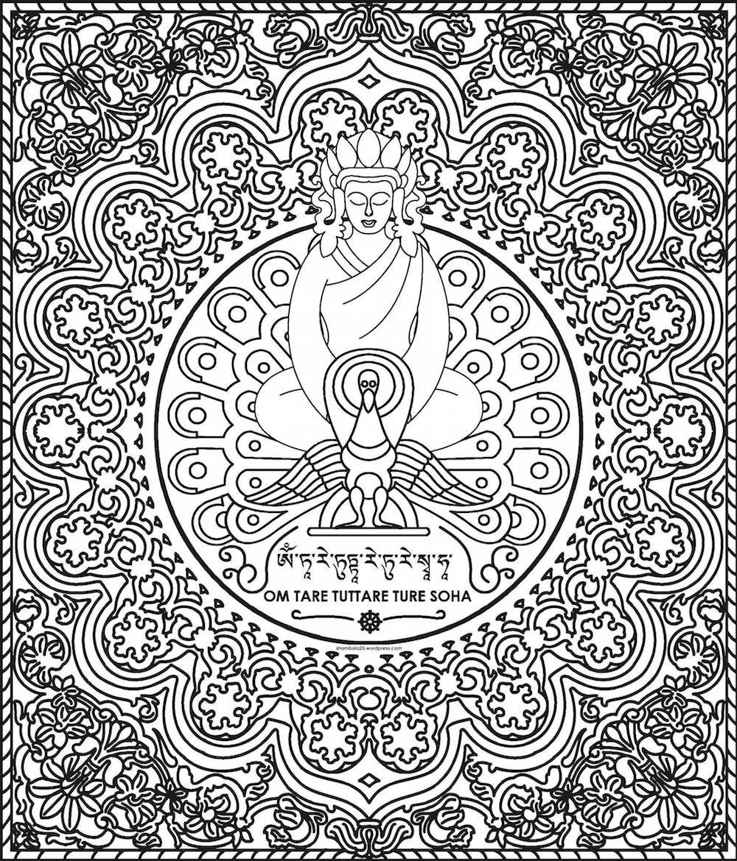 """""""OM TARE TUTARE TURE SOHA"""" es Tara, La Madre de sabiduría, la liberadora, la rápida, la valerosa, su mantra purifica y hace acumular mérito, protege de todos los sufrimientos y ayuda a obtener todo lo auspicioso."""