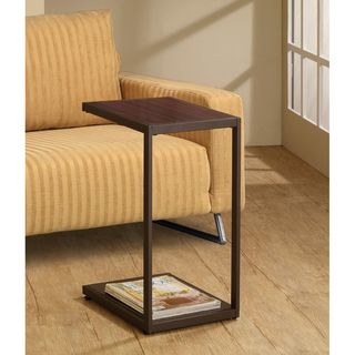 Dark Brown Snack Side End Table Stand